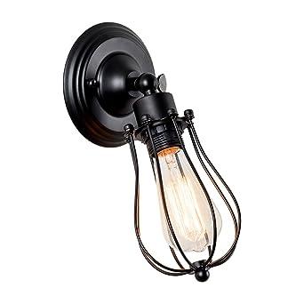 Wandlampe Vintage Verstellbar Metall Wandleuchte Landhaus Wandlampe  Rustikal Für Schlafzimmer Wohnzimmer Esstisch (Gemalt Mit Modern