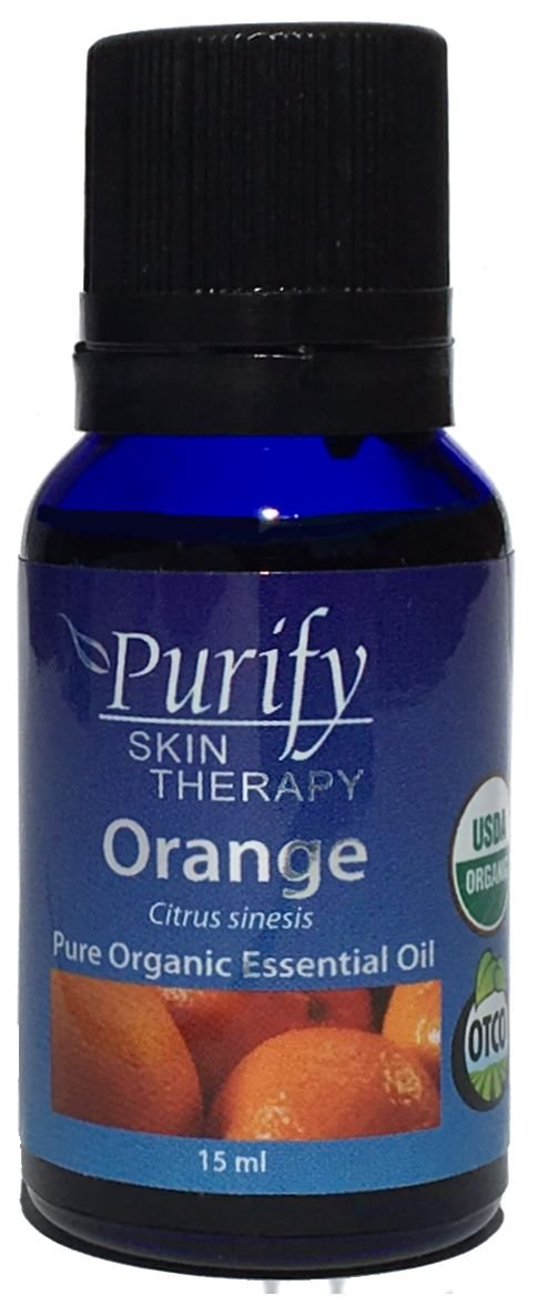 Orange Sweet Essential Oil Organic, 100% Pure 15ml by Purify Skin Therapy (Image #1)