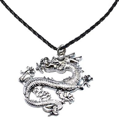 Bijoux de ja bdj stainless steel chinese dragon pendant pleather bijoux de ja bdj stainless steel chinese dragon pendant pleather necklace 162 aloadofball Image collections