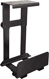 Stand Up Desk Store Adjustable CPU Holder   Under Desk Computer Mount - Tucks Bulky CPUs Under Your Standing Desk to Free Up Valuable Workspace