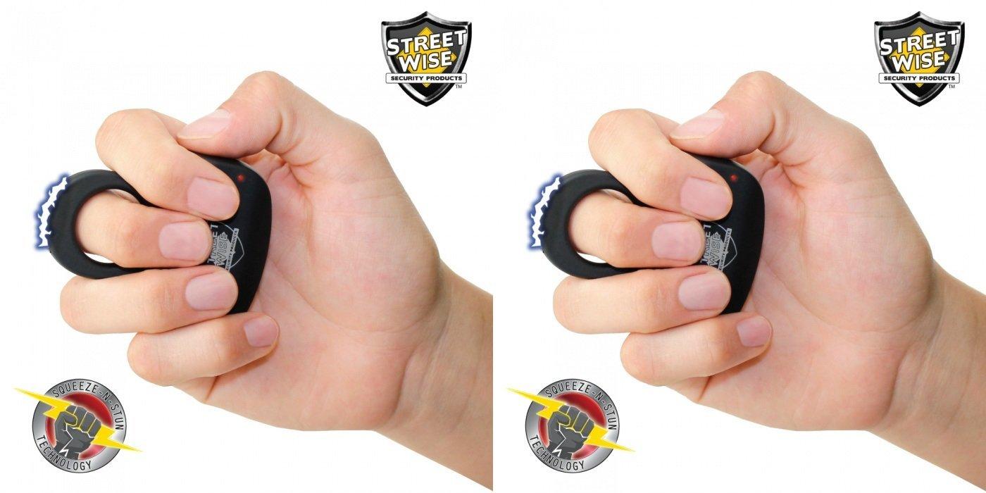 Streetwise Sting Ring 18 Million Volts Stun Gun Bundle Deal - Black