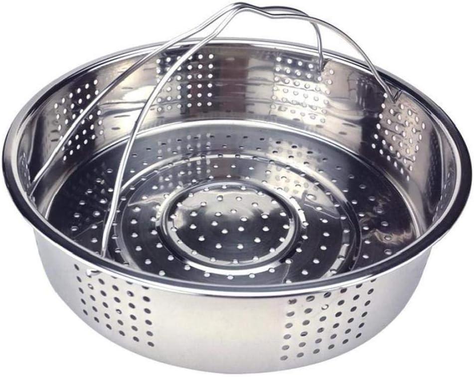 Household Kitchen Colander Steamer Stainless Steel Steamer Rice Cooker Steamer Steam Basket with Silicone Handle