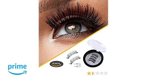 Amazon.com: Blisstime Ultra Long Magnetic False Eyelashes(4 PCS) - Cover the Entire Eyelids, Newest Dual Magnetic Eyelash Extensions 3D Reusable Fake Lashes ...