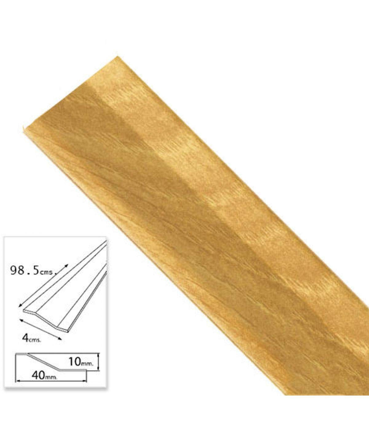 Aluminio, 98,5 cm Color Roble Wolfpack 2541050 Tapajuntas Adhesivo para cer/ámica