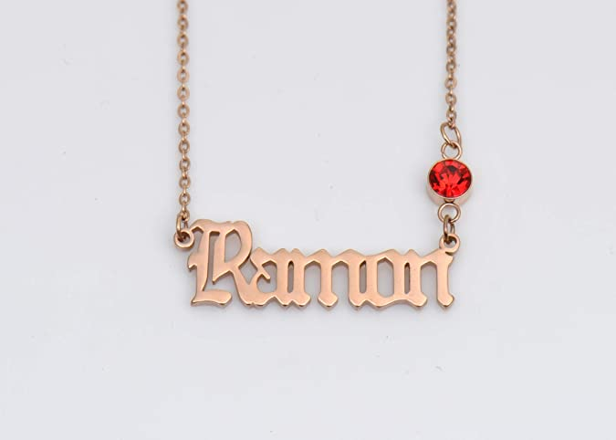 HUAN XUN Peronalized Pendant Old English Custom Name Necklace Best Gifts for Mother Grandma Alexa