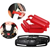 Bozoa Chest Harness Clip/Toddler Chest Harness Clip and Car Seat Safety Belt Clip for Baby Safety Car Seat (Set of 4)