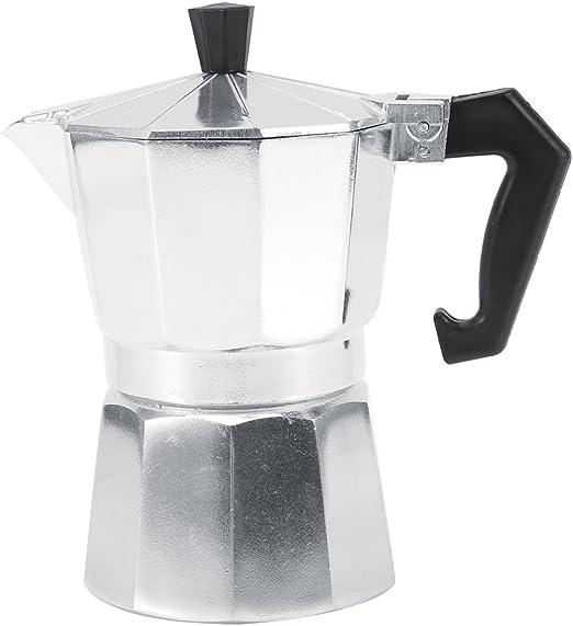 SOONHUA - Cafetera italiana de aluminio tipo moka para uso en casa ...