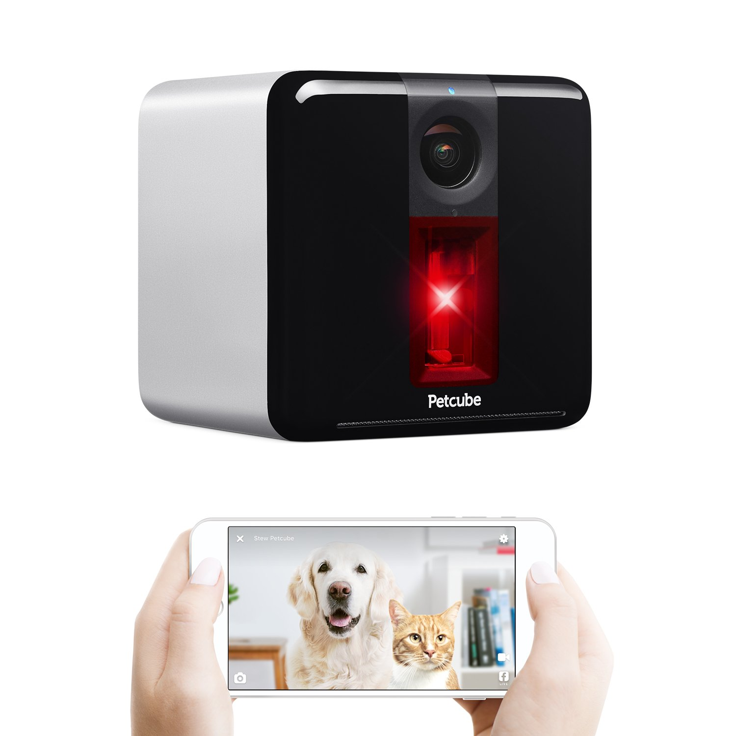 Petcube Play Wi-Fi Pet Camera: HD 1080p Video, 2-Way Audio, Night Vision and Interactive Laser Toy. Video Camera to Monitor Your Dog or Cat with Sound and Motion Alerts (As seen on TODAY & Ellen)