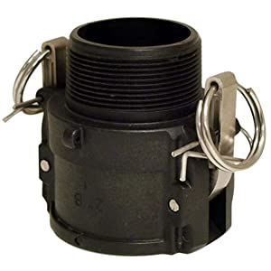 """Apache 49030520 Part B Female Cam and Groove Adapter, Polypropylene, Black, 2"""""""
