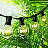 Globe String Lights with G40 Bulbs - ON'H 25 Feet Outdoor String Lights for Patio Garden Party Wedding Lawn Backyard, Black Wire