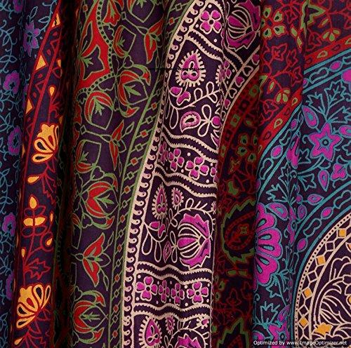 Indian PUERTA VENTANA balc/ón cortinas Boho Mandala cortina de DRAPE de girasoles cortina de DRAPE hecha a mano tapiz manta por handicraft-palace