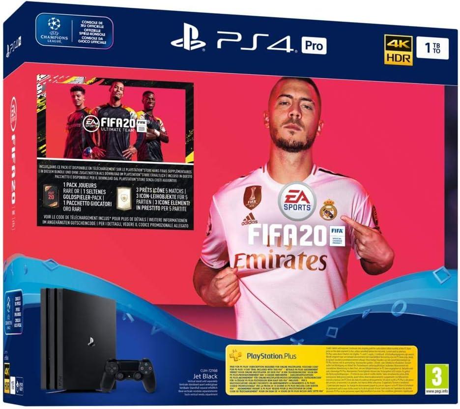 PlayStation 4 Pro - Konsole (1TB) inkl. FIFA 20 [Importación ...
