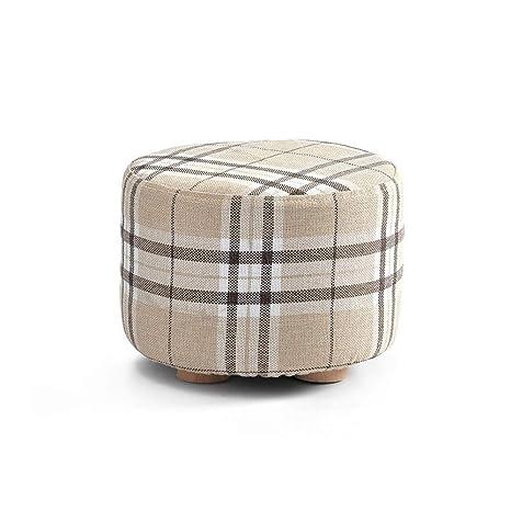 Amazon.com: Huquan - Taburete de sofá de madera maciza ...