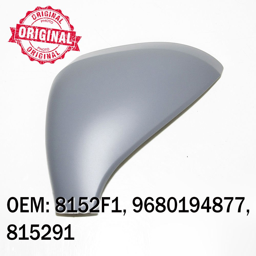 Right Side Wing Mirror Cover Cap Casing Primed Compatible With 500 2007 Onwards OEM 735417228 735456806 735456807