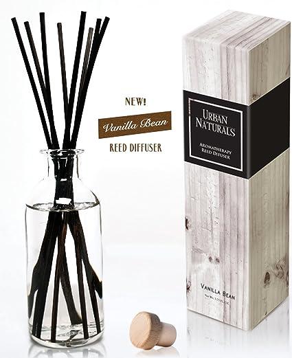 Urban Naturals Vanilla Bean Scented Oil Reed Diffuser Gift Set | Vanilla  Cream, Amber U0026