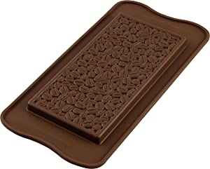 Silikomart Coffee Choco Silicone Mold, Coffee Bean Embossed Chocolate Tray with 3D Technology, Easily Unmolds, 2-3/4-Fluid Ounces, Oven, Microwave, Freezer and Dishwasher Safe, Made in Italy