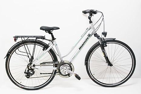 BIANCHI City Bike 28 tacón ónice 21 V Mujer articsilver (43 ...