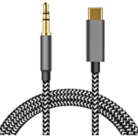 USB C to 3.5mm Aux Cable Compatible with Google Pixel 4/4XL/3/3 XL/2/2XL, Galaxy Note 10/10+/S20/20+/Note 20/20 Ultra…