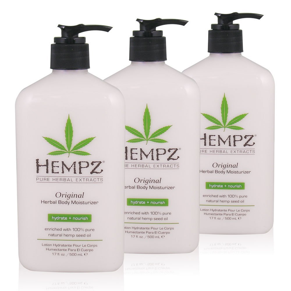 Hempz Original Herbal Body Moisturizer, 17 oz, Pack of 3 by Hempz (Image #1)