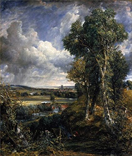 'John Constable,Dedham Vale,1802' Oil Painting, 18x21 Inch / 46x54 Cm ,printed On High Quality Polyster Canvas ,this Reproductions Art Decorative Prints On Canvas Is Perfectly Suitalbe For Gift For Girl Friend And Boy Friend And Home Decoration And Gifts