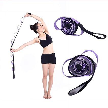 Kottle 10 fijo lazos algodón Durable antideslizante Yoga correa, multi-grip estiramiento para flexibilidad y fisioterapia Fitness ejercicio