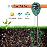 Hmjunboys Soil Tester Soil pH Meter, 3 in 1 Soil Test Kit for Moisture, Light & pH/Acidity, Gardening Tool for Home, Garden, Lawn, Farm, Plants, Indoor & Outdoor Plant Care. (No Battery Needed)