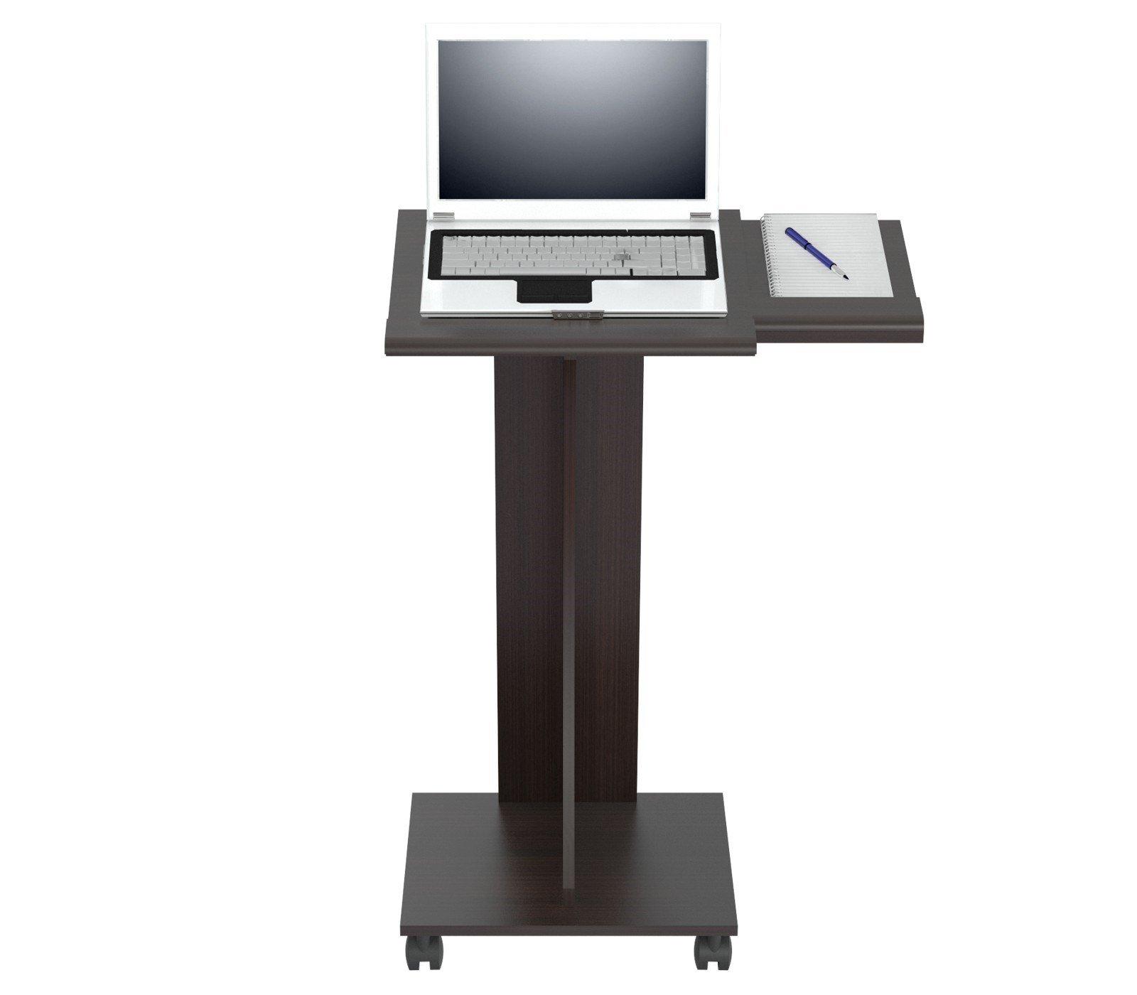 Inval MLP-5020 Rolling Laptop Cart, Espresso-Wengue