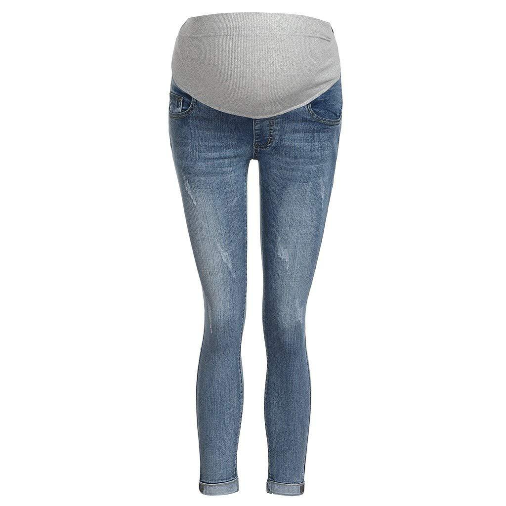 Muamaly Umstandshose Jeans Umstandsjeans Umstandsmode Damen Hosen Jeans Jeanshosen Jogginghose Maternity Hose Skinny Hosen Mutterschafts Leggings Schwangerschaftshose