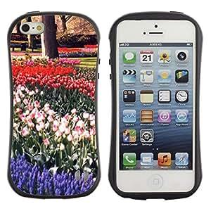 "Hypernova Slim Fit Dual Barniz Protector Caso Case Funda Para Apple iPhone SE / iPhone 5 / iPhone 5S [Planta Naturaleza Forrest Flor 16""]"