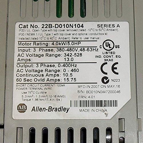 Allen Bradley POWERFLEX 40 CAT: 22B-D010N104