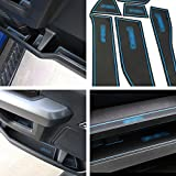 Interior Anti-Dust Non-Slip Door Gate Slot Mats Cup Slot Pads Waterproof Mats For Ford Raptor f150 2015 2016 2017 With Logo Pack of 27 (Blue)