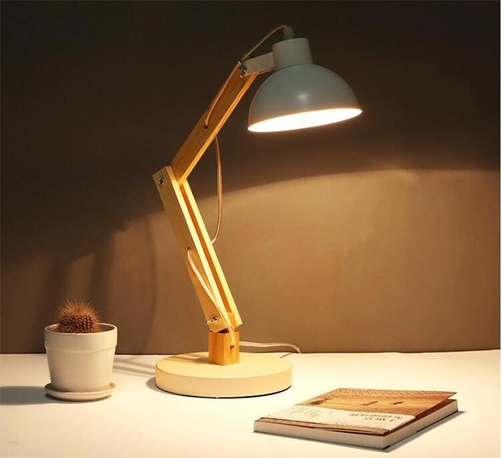 XIAOJIA Tischleuchte Art und Weise LED-justierbares LED-justierbares LED-justierbares Abnehmen Tomons hölzernes Schwingen-Arm-Augen-Schutz-Tabellen-Lampe-Kursteilnehmer-Lernarbeitsbüro-Schlafzimmer-Leselampe B06VY3K9V1   Zarte  ef475d