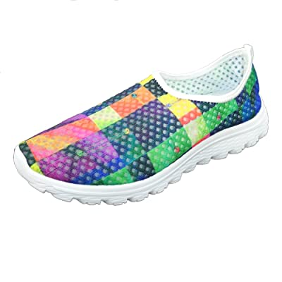 FOR U DESIGNS Stylish Women's Breathable Mesh Athletic Running Shoes US 10