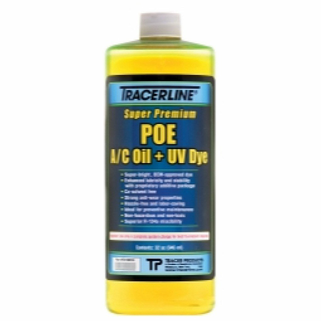 32 oz. Bottle POE A/C Oil with UV Dye TRACER PRODUCTS