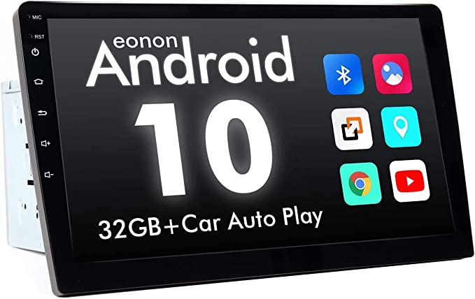 2021 Newest Type Double Din Octa-core 4GB+64GB Car Stereo Eonon 10.1 Inch Android 10 Car Radio GPS Navigation Built-in Apple Car Auto Play/& DSP Supports Android Auto//Fast Boot//Backup Camera GA2185