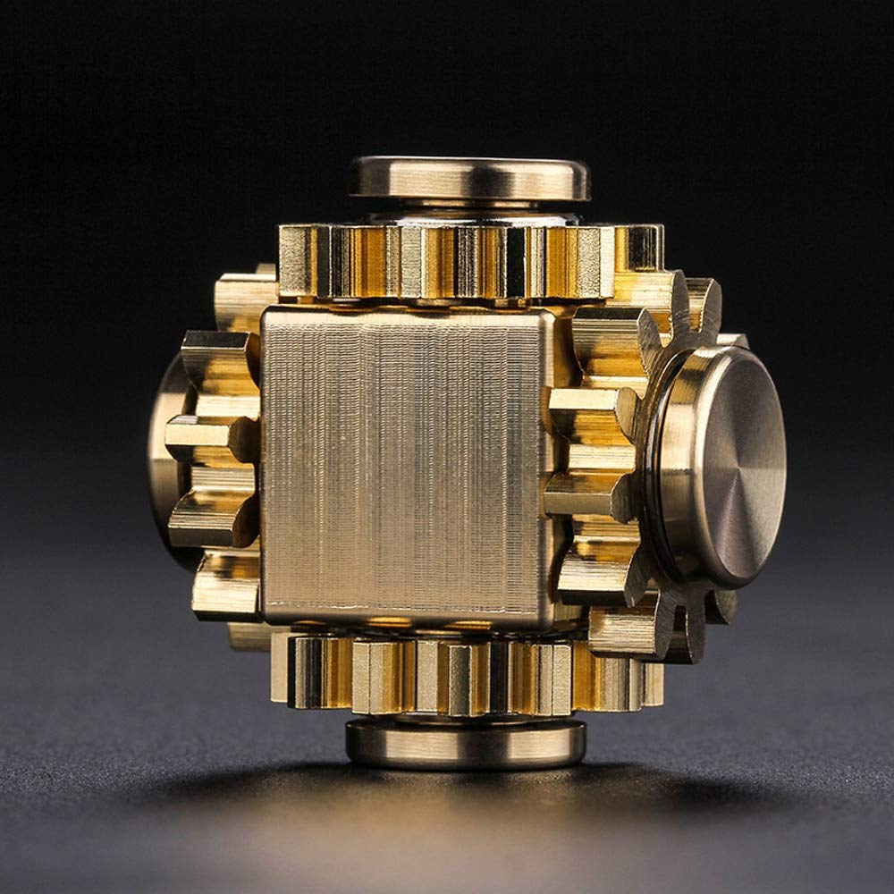 The Gear Cube - A Fully Modular Metal Crafted Brass Desk Toy for Fidgeting and EDC (Fidget Cube Spinner) by The Gear Cube (Image #1)