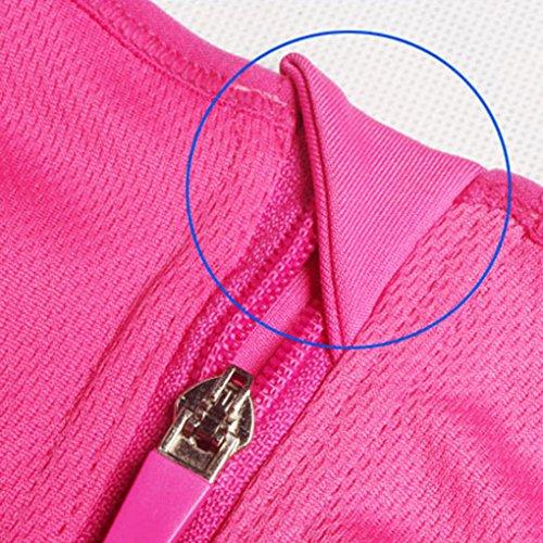 donne Zipper Push antiurto Up Yoga Wirefree ragazza rossa Sport Babysbreath17 Top rosa della Underwear reggiseno CwxSndUq