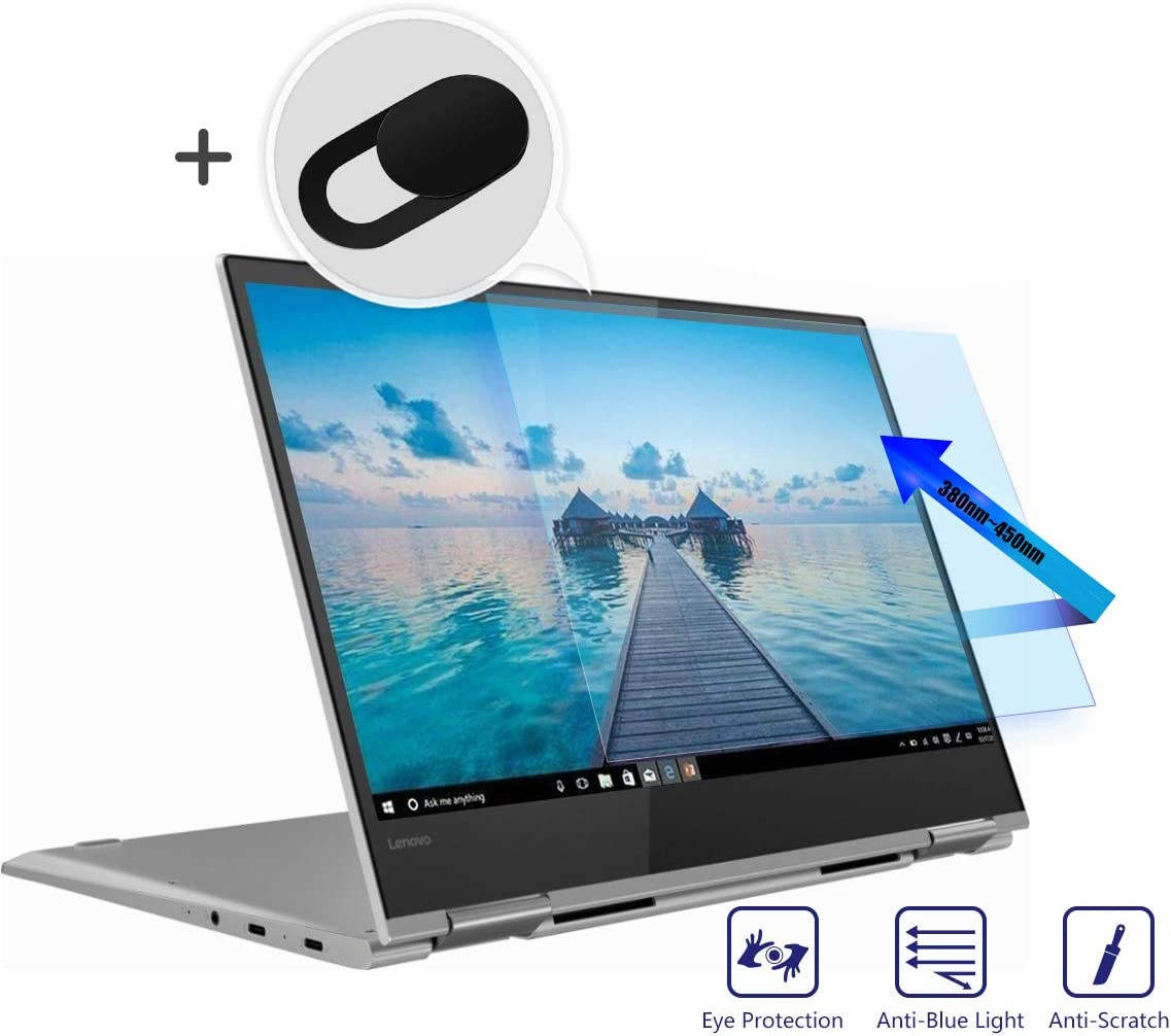 "Lenovo Yoga 730 Screen Protector 13.3 Inch, Anti Glare Anti Blue Light Screen Filter Protector Eye Protection Blue Light Blocking for 13.3"" Lenovo Yoga 730 2-in-1 Laptop with Webcam Cover"