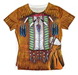 Forum Novelties Native American Boy Photo Real Print Costume Shirt, Multicolor, Large