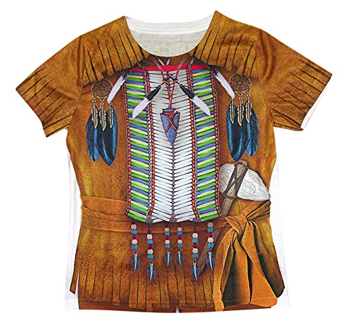Forum Novelties Native American Boy Photo Real Print Costume Shirt, Multicolor, (Indian Boys Costumes)