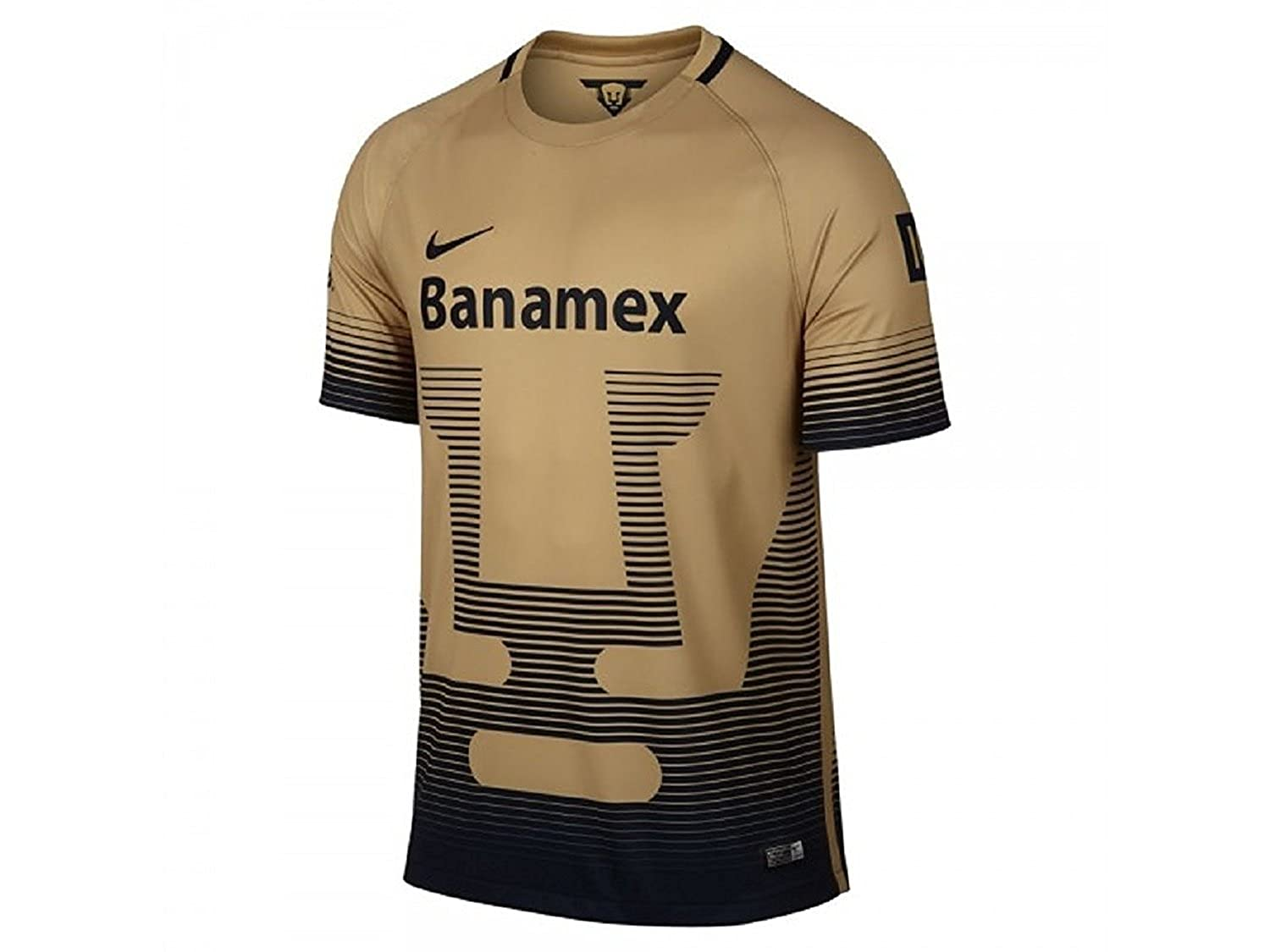 f97b9c19920 Amazon.com   2015-2016 Nike UNAM Pumas Home Replica Soccer Jersey  (Gold Navy) (L)   Sports   Outdoors