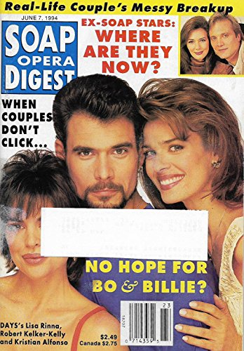 Lisa Rinna  Robert Kelker Kelly   Kristian Alfonso  Days Of Our Lives  L Hunter   Michael Tylo   June 7  1994 Soap Opera Digest