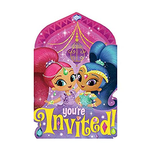 Generique - 8 Invitaciones y Sobres Shimmer and Shine ...