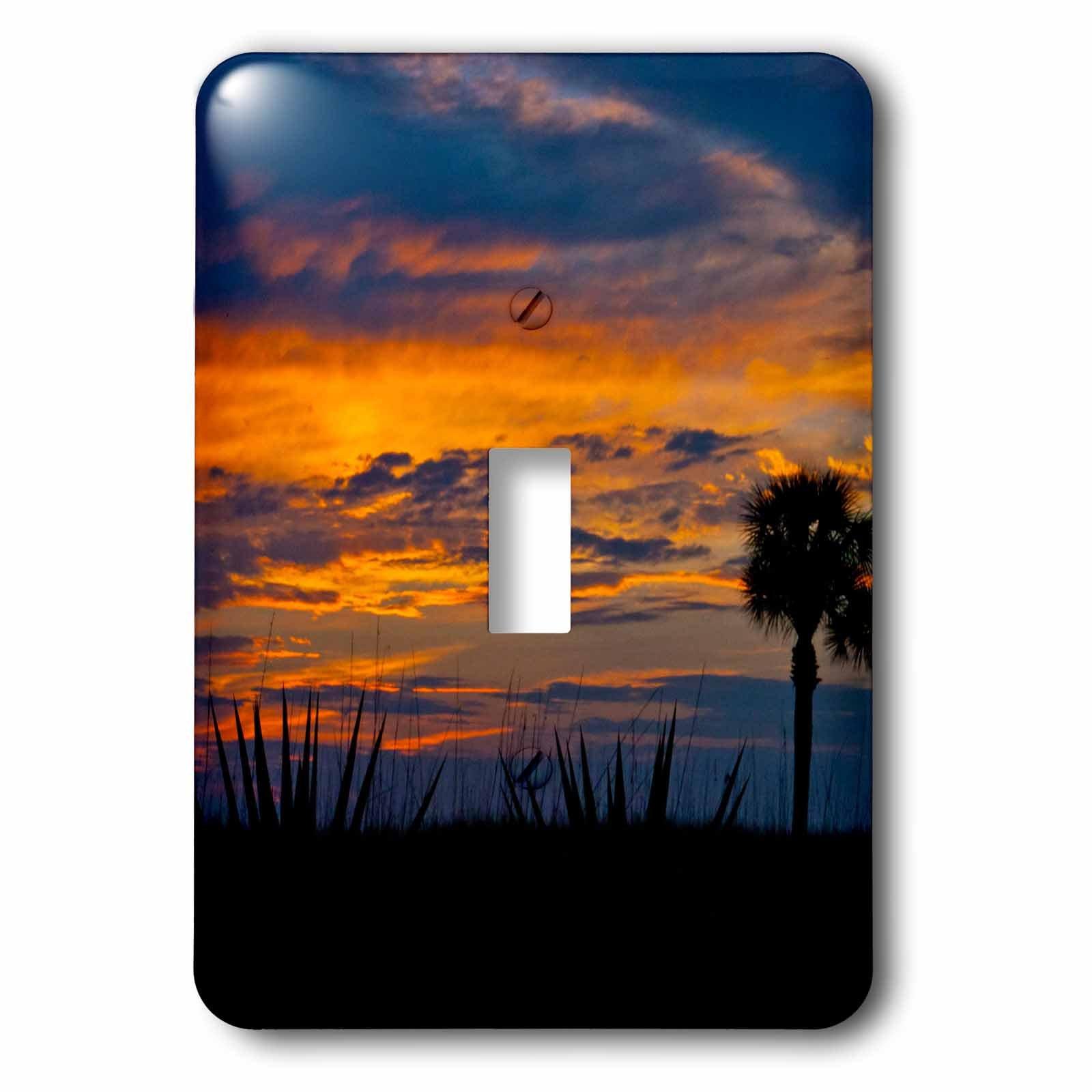 3dRose LSP_259165_1 USA, Florida, Sarasota, Crescent Beach Siesta Key Sunset Toggle Switch, Multicolor