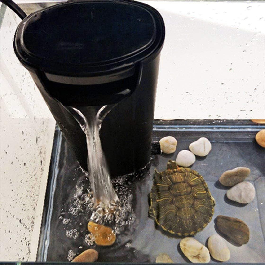 Jessicadaphne Piccola Cascata silenziosa Tartaruga Serbatoio di Pesce Pompa di Ossigeno Filtro a Basso Livello dAcqua Depuratore dAcqua Pompa di Tartaruga 5 W Zy-T10