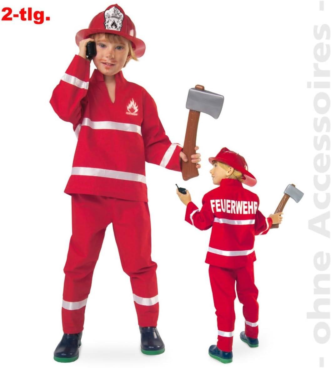 Feuerwehrmann Sam Deluxe Feuerwehr Kinder Karneval Fasching Kostüm 104-116