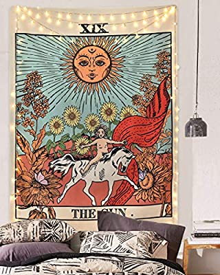 Sevenstars TarotTapestry TheSun TheMoonTheStar Tapestry Medieval Europe Divination Tapestry Wall Hanging Mysterious TapestryforRoom