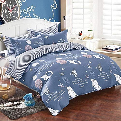 Lio Duvet Covers - LIA Cotha OceanWorld 1xDuverCover(230x200cm) 2xPillowcase(45x74cm) - Newest 3pcs Duvet Cover Set Elegant Palace Design Fiber 1pc Duvet Cover 2pcs Pillow Cases Bedding Set Home Textiles