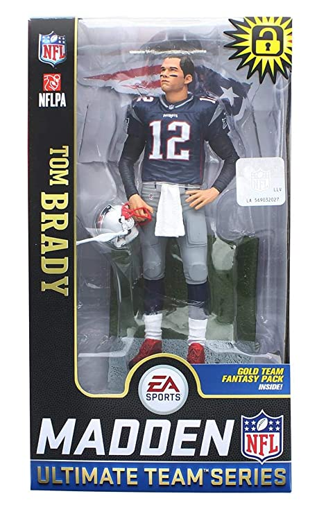 782cff7b2 Amazon.com  McFarlane Toys EA Sports Madden NFL 19 Ultimate Team Tom Brady  England Patriots (Original Version)  Toys   Games