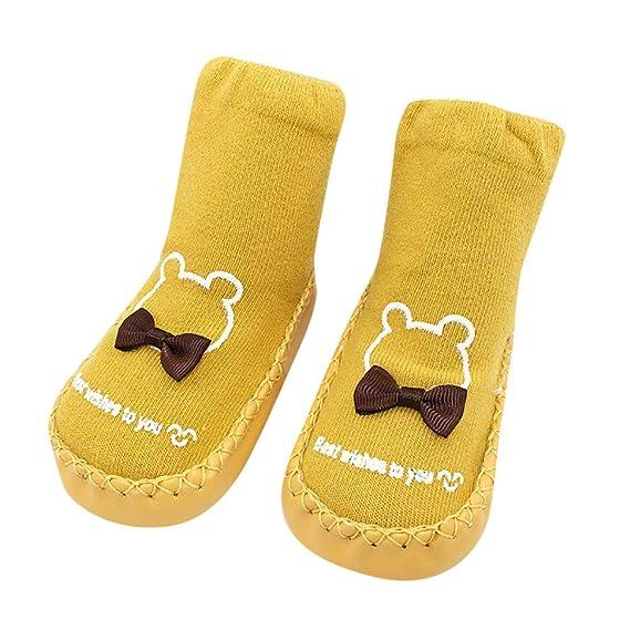 Calcetines de Bebé,ZARLLE Invierno Bebé Niñas Niños Indoor Zapatillas Piso Calcetines Patrón De Dibujos Animados Calcetines Zapatos Antideslizante ...